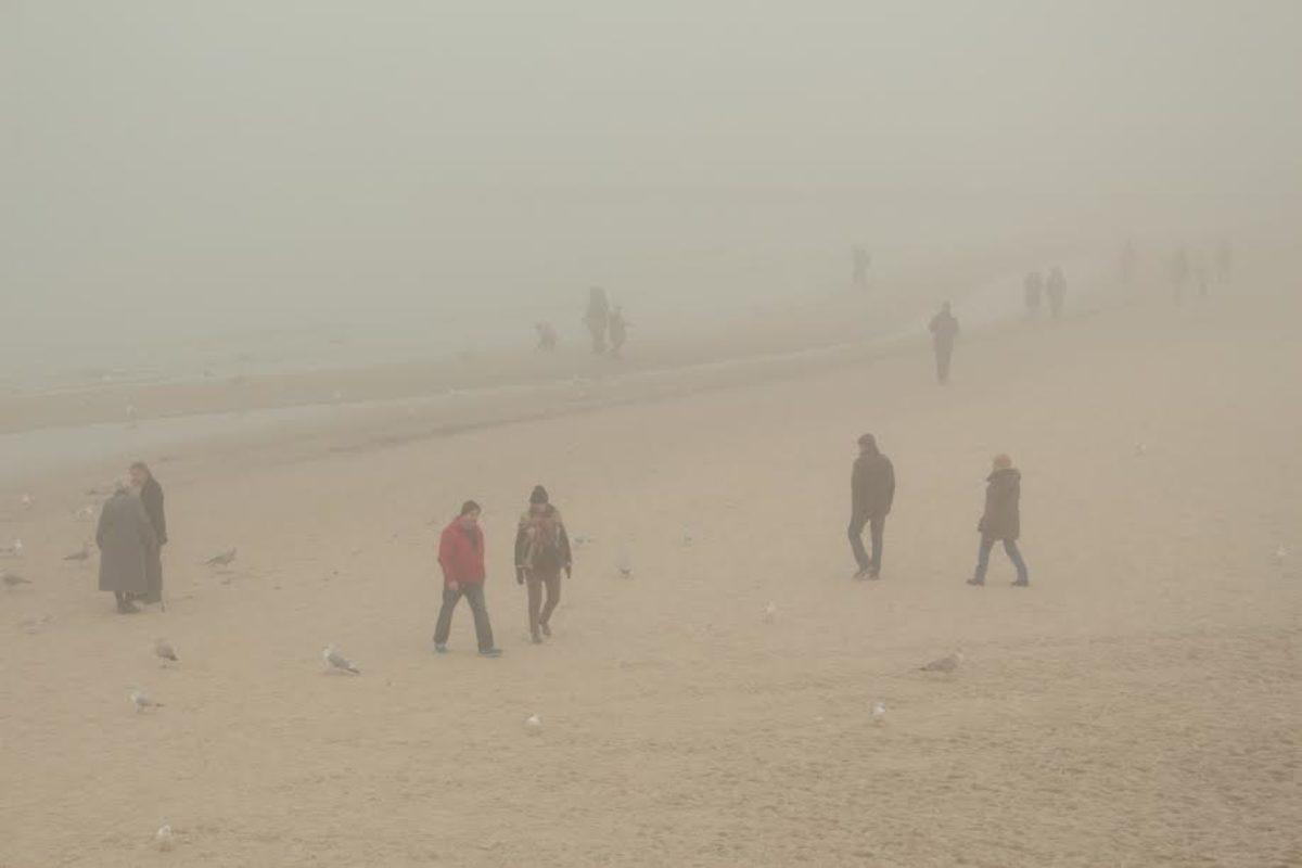 Kołobrzeg we mgle