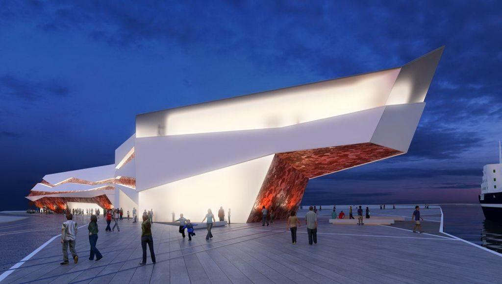 terminal 1024x580 - Projekt terminala pasażerskiego w porcie wygląda imponująco