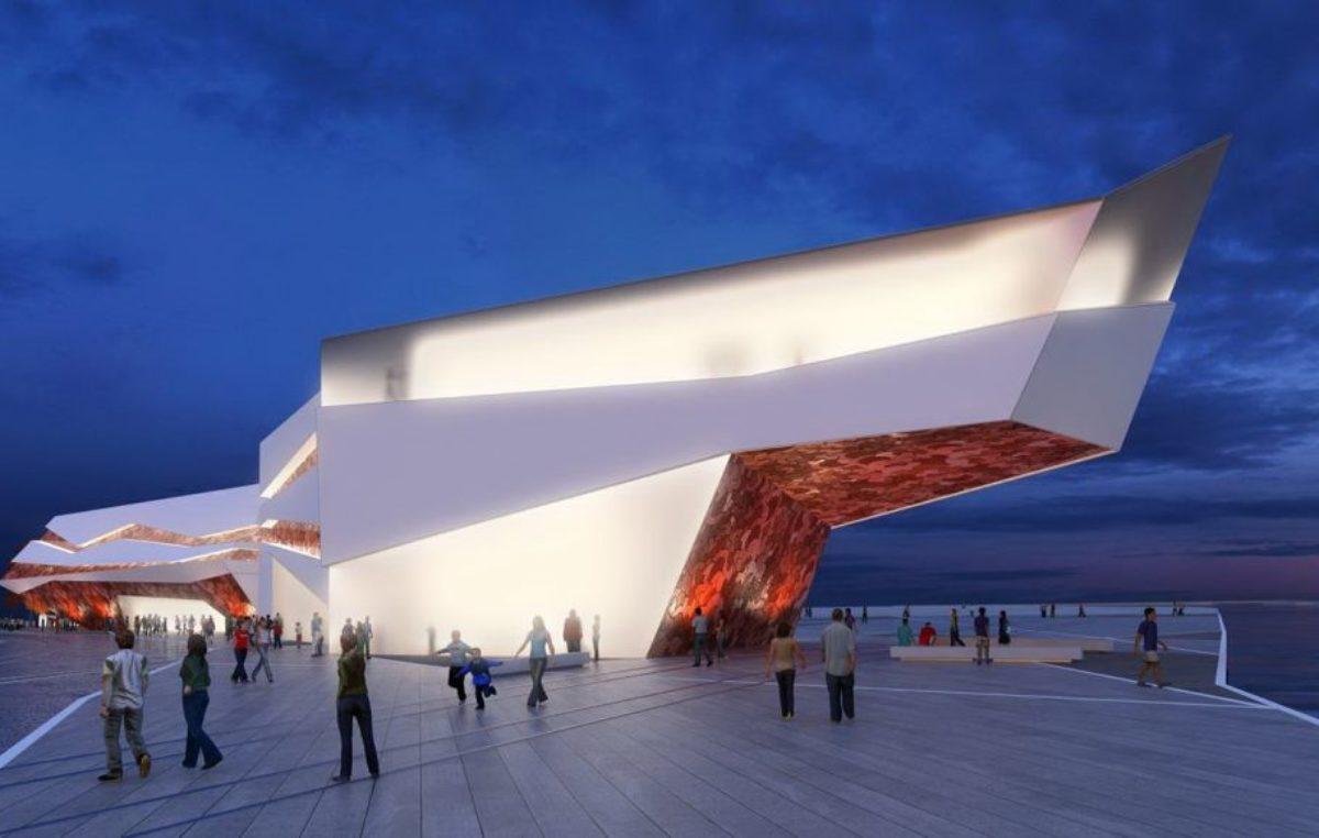 Projekt terminala pasażerskiego w porcie wygląda imponująco