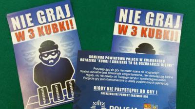Policjanci po raz kolejny ostrzegali przed grą w trzy kubki