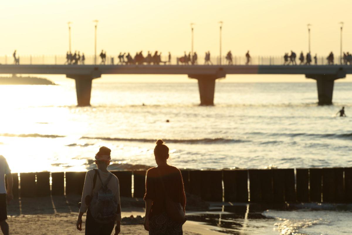 Plaża – zachód słońca