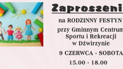 Jutro Rodzinny Festyn w Dźwirzynie. Wstęp wolny