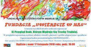 """X edycja Przeglądu Twórczości Osób, """"Którym Wędruje Się Trochę Trudniej""""  w sobotę"""