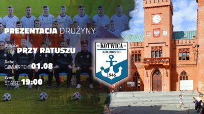 Jutro oficjalna prezentacja piłkarskiej drużyny Kotwica Kołobrzeg. Nietypowo, bo przed ratuszem