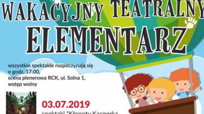 Środa, RCK, Wakacyjny Teatralny Elementarz, godz. 17, wstęp wolny