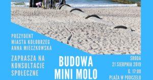 Kolejne konsultacje. Tym razem w sprawie budowy mini mola w Podczelu