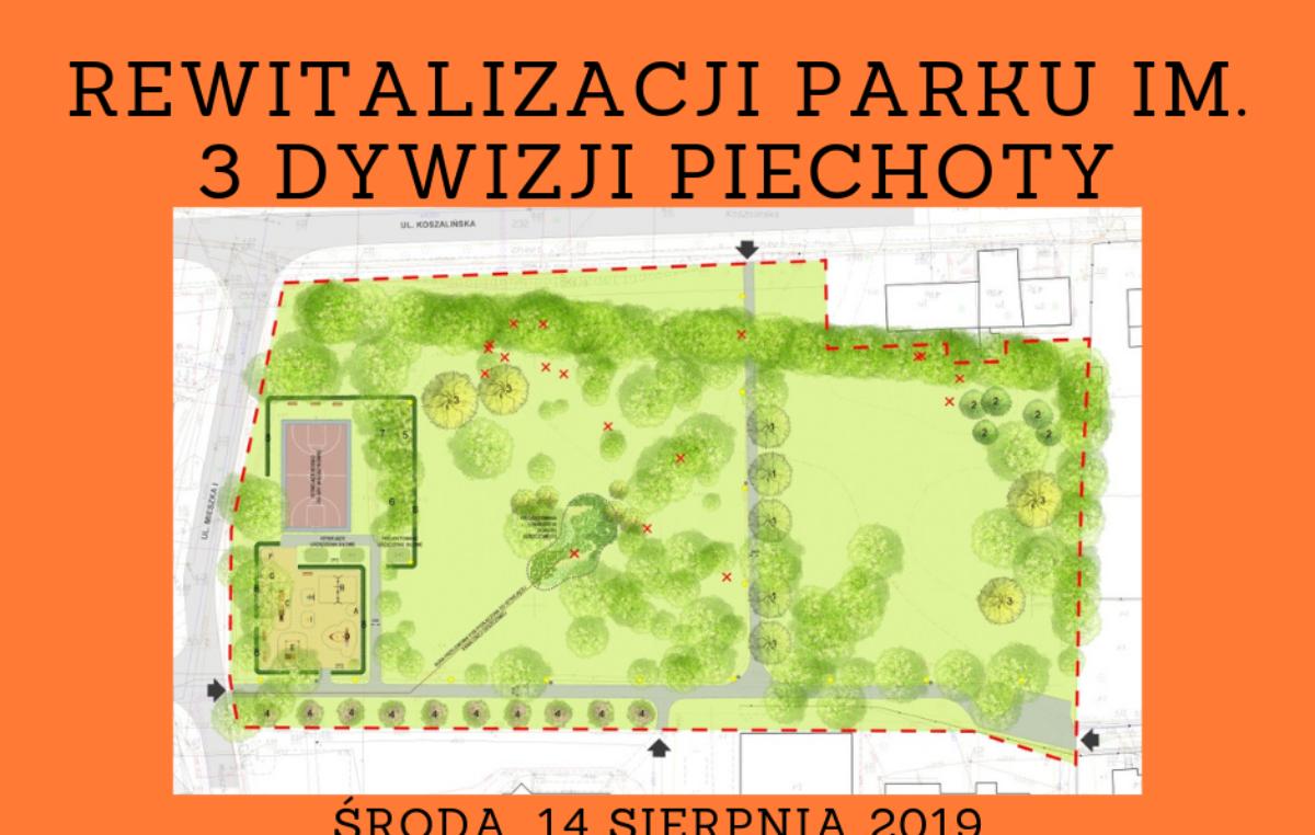 Zaproszenie na konsultacje projektu rewitalizacji Parku im. 3 Dywizji Piechoty