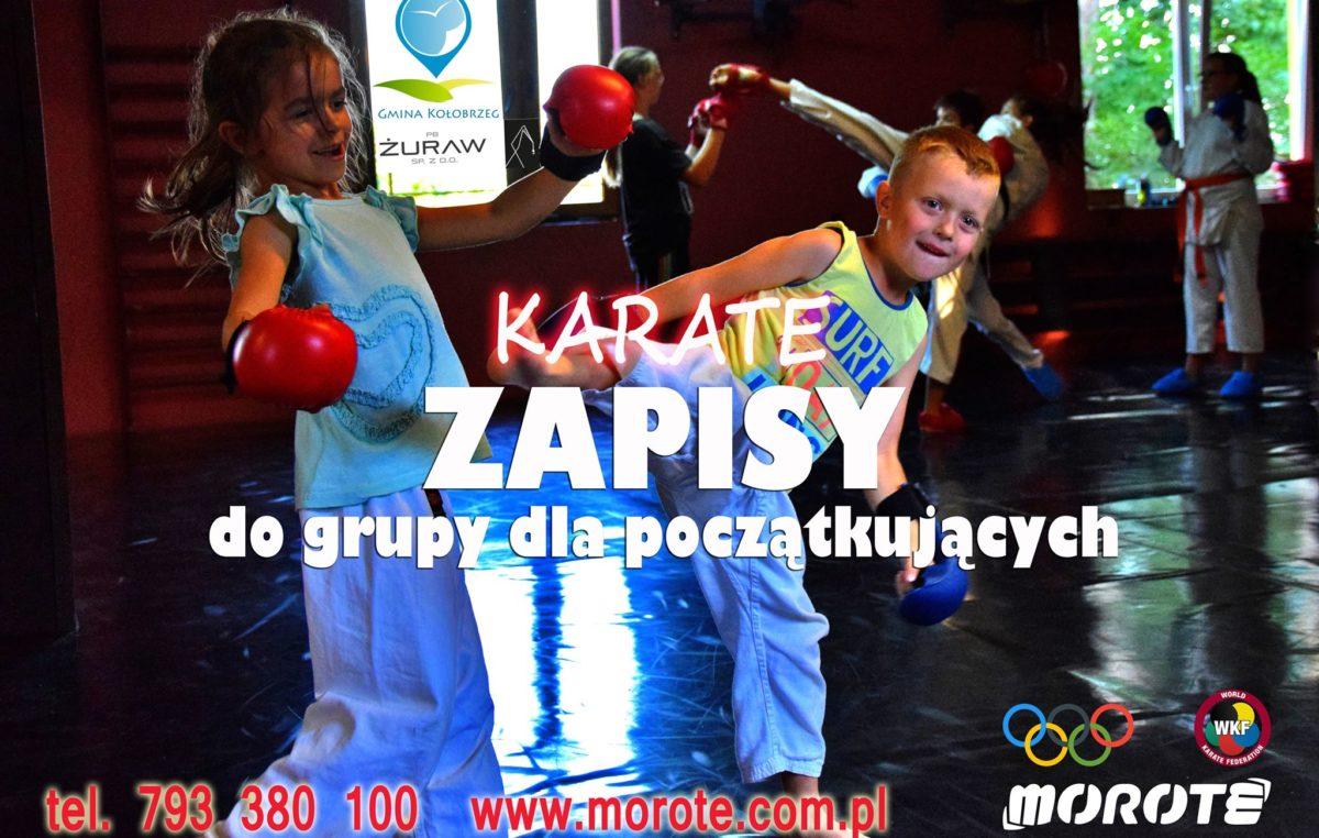 Nabór do sekcji karate w klubie Morote. Zajęcia są bezpłatne
