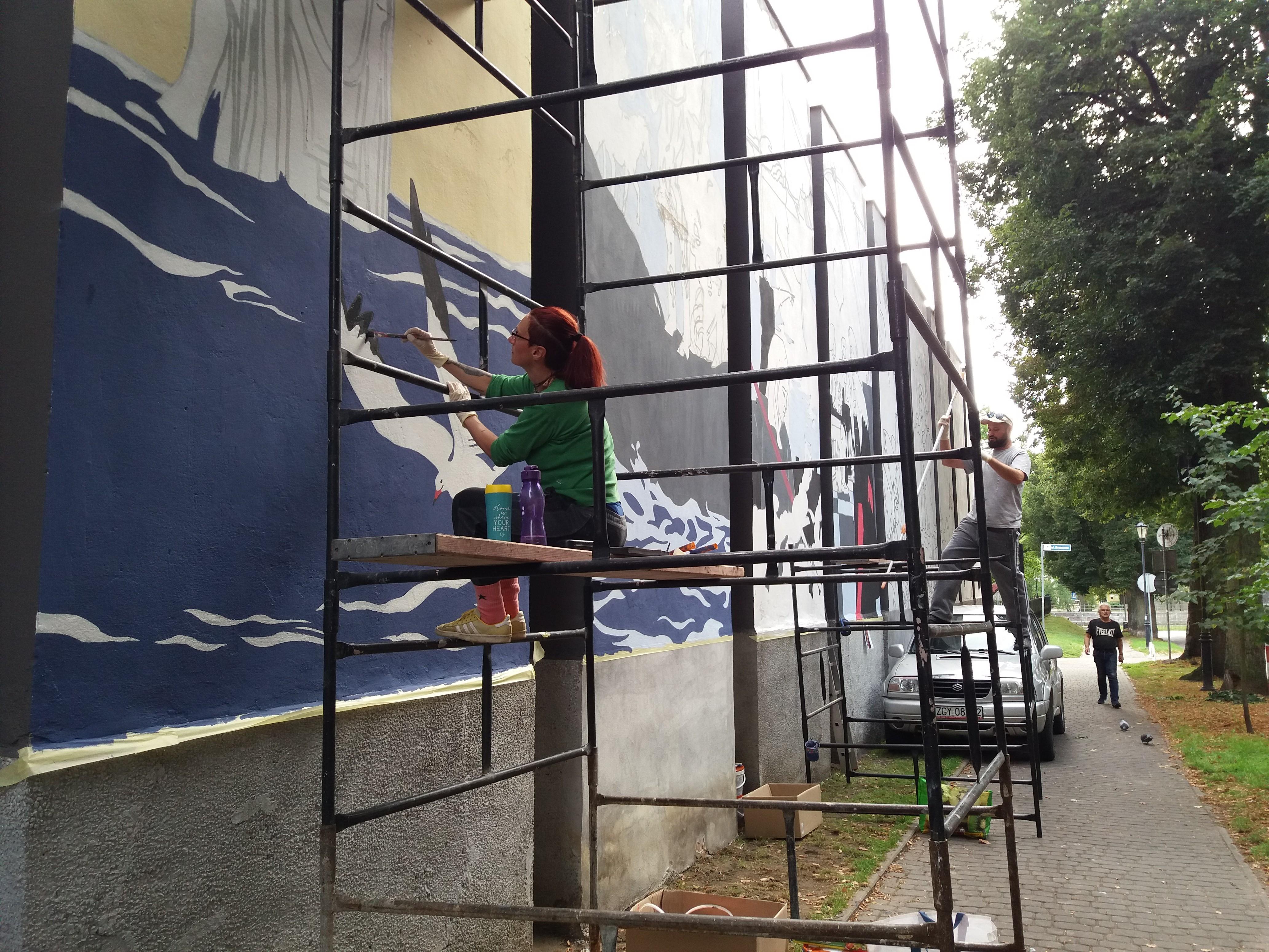 mural2 1 - Powstaje historyczny mural na budynku Muzeum Oręża Polskiego