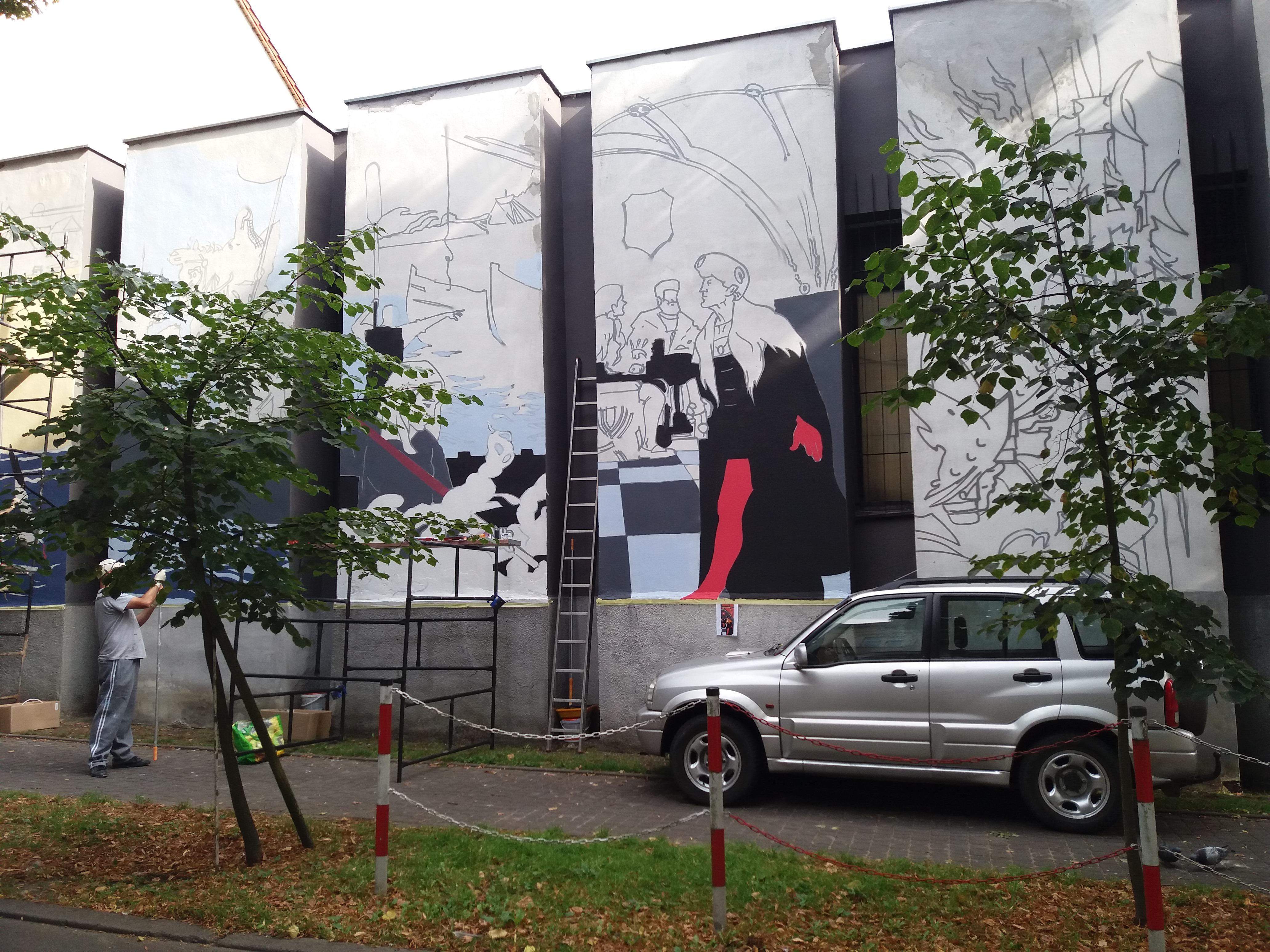 mural2 2 - Powstaje historyczny mural na budynku Muzeum Oręża Polskiego