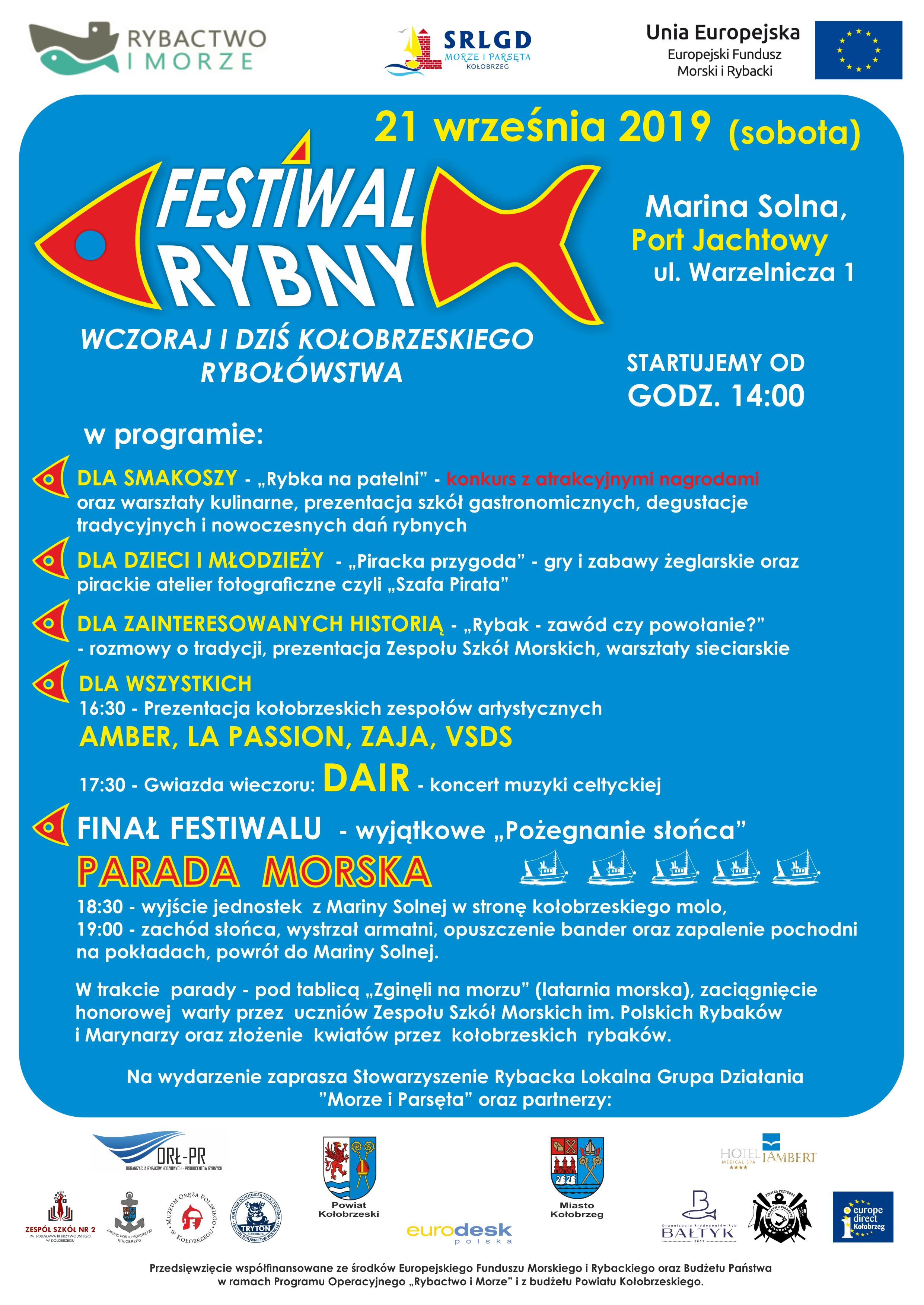plakat png - Festiwal Rybny wkrótce w Kołobrzegu (plakat)
