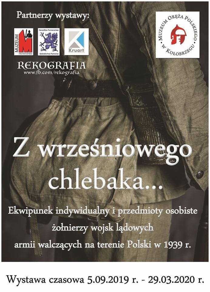 """plakat - Od jutra nowa wystawa w Muzeum Oręża Polskiego. """"Z wrześniowego chlebaka..."""""""