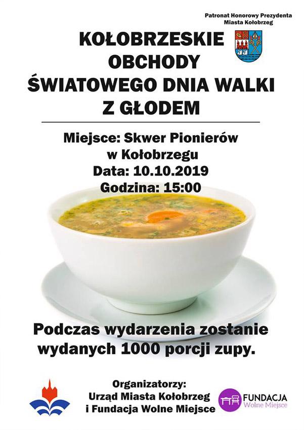 """głod - Czwartek, Skwer Pionierów, """"Kołobrzeskie Obchody Światowego Dnia Walki z Głodem"""", godz. 15"""