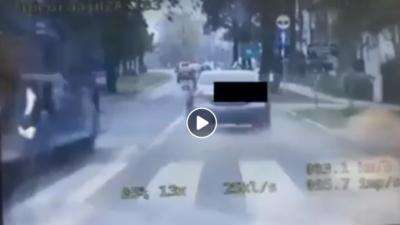 """""""Rajd"""" ulicą 6. Dywizji Piechoty zakończony mandatem i 10 punktami karnymi (wideo)"""