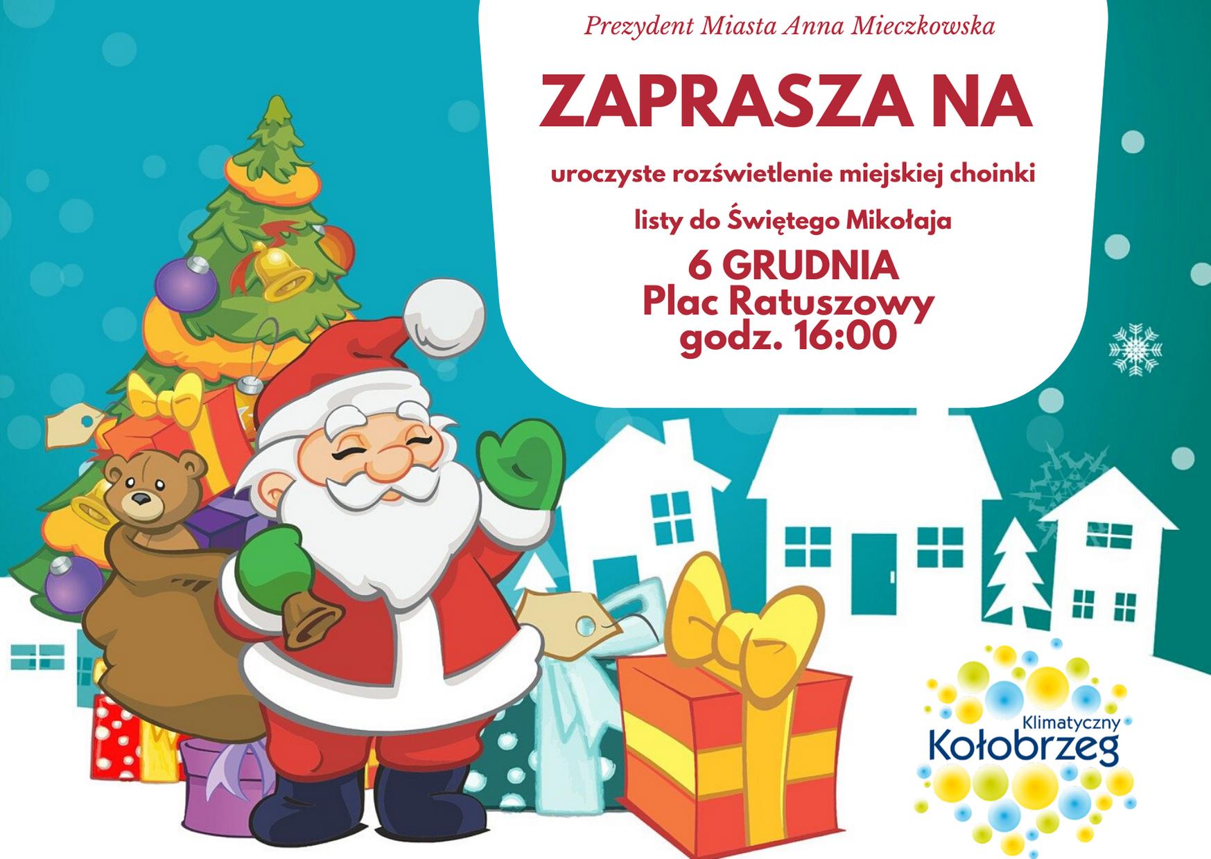 Red White Christmas Naughty or Nice Card - W piątek uroczyste rozświetlenie miejskiej choinki. Będą drobne upominki dla najmłodszych