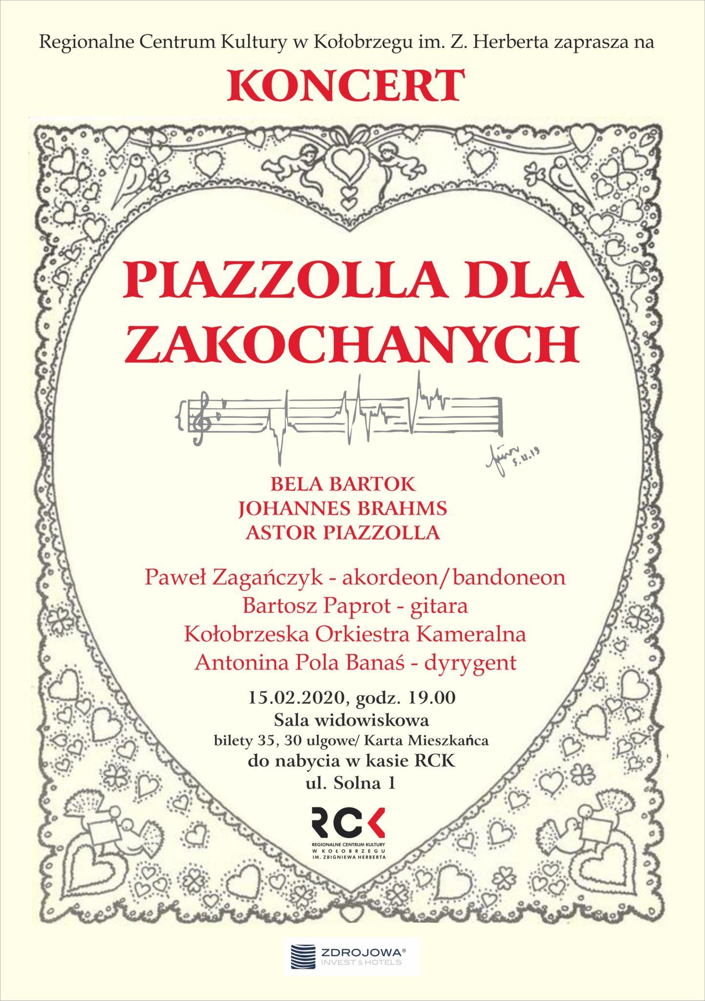 """banaś 20 piazzolla 2 - Sobota, RCK, koncert """"Piazzolla dla Zakochanych"""", godz. 19, bilety 35zł/30zł"""