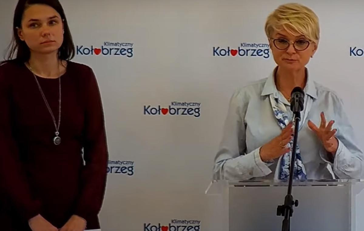 Koronawirus: Zapis wideo konferencji prezydent i wiceprezydent Kołobrzegu ws. bieżącej sytuacji w mieście