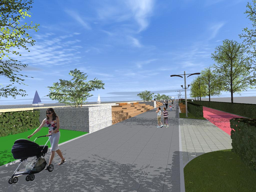 1 2 - Tak ma wyglądać po przebudowie ostatni odcinek nadmorskiej promenady. Miasto wchodzi w inwestycję, by nie utracić unijnego dofinansowania