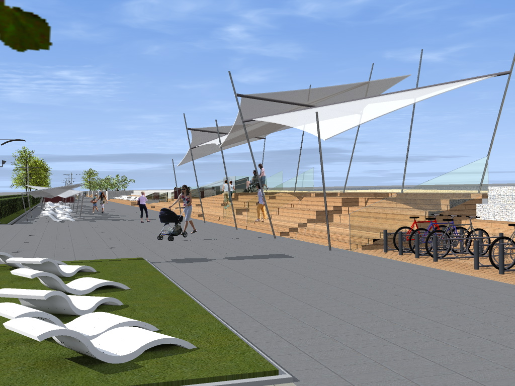 2 1 - Tak ma wyglądać po przebudowie ostatni odcinek nadmorskiej promenady. Miasto wchodzi w inwestycję, by nie utracić unijnego dofinansowania