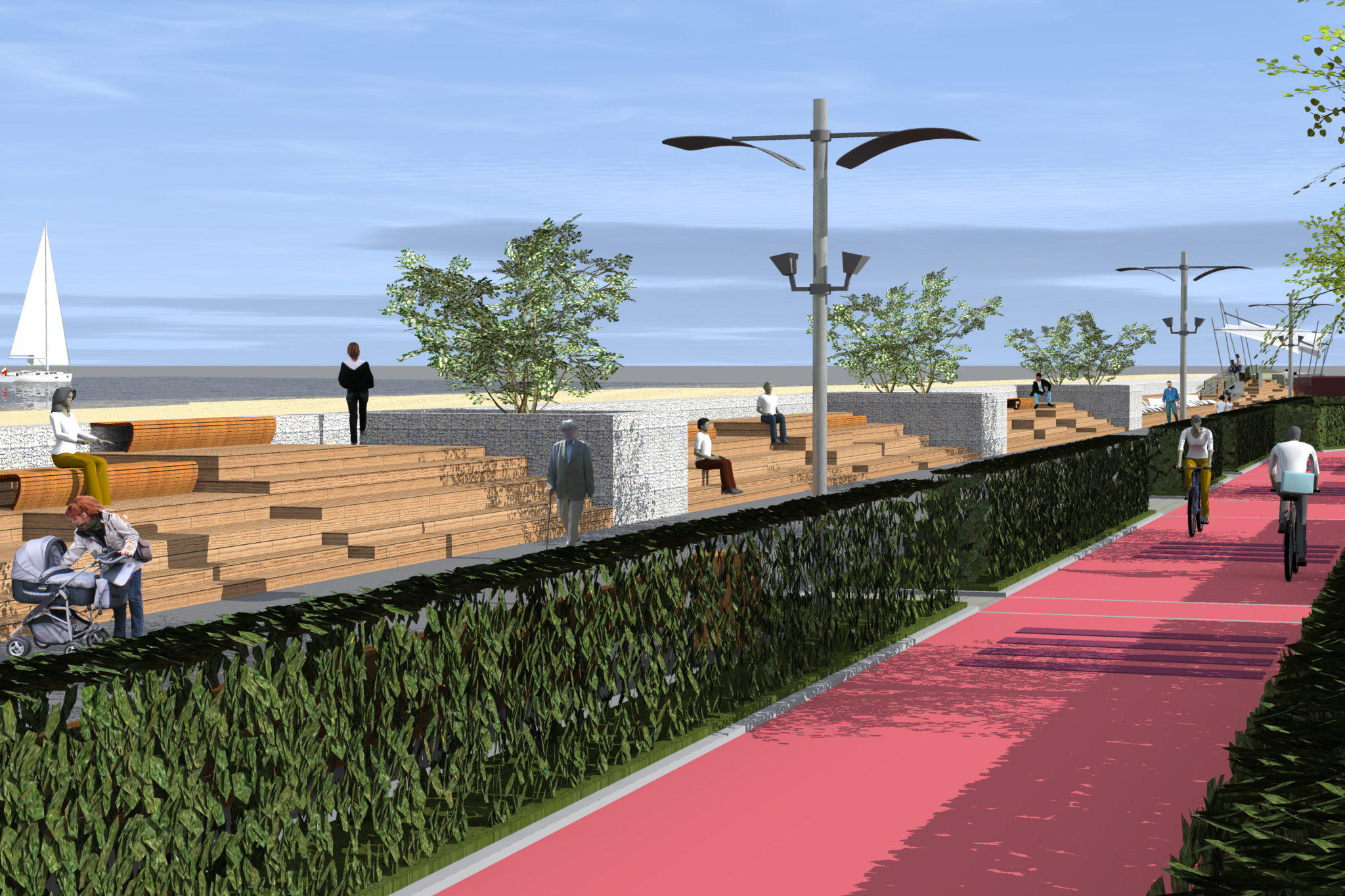 3 - Tak ma wyglądać po przebudowie ostatni odcinek nadmorskiej promenady. Miasto wchodzi w inwestycję, by nie utracić unijnego dofinansowania