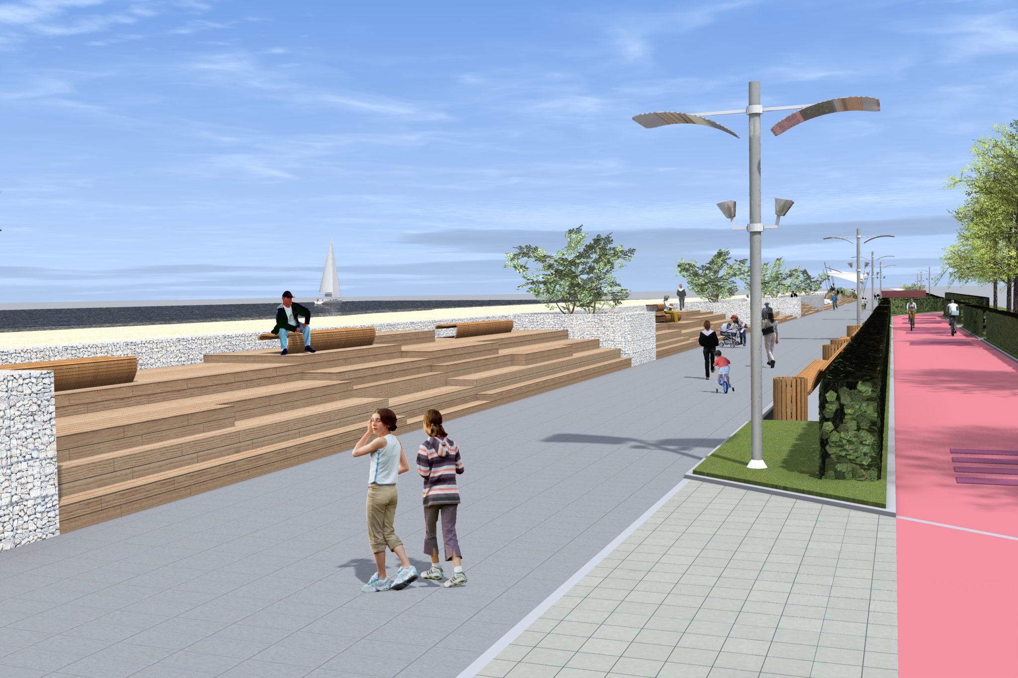 4 1 - Tak ma wyglądać po przebudowie ostatni odcinek nadmorskiej promenady. Miasto wchodzi w inwestycję, by nie utracić unijnego dofinansowania