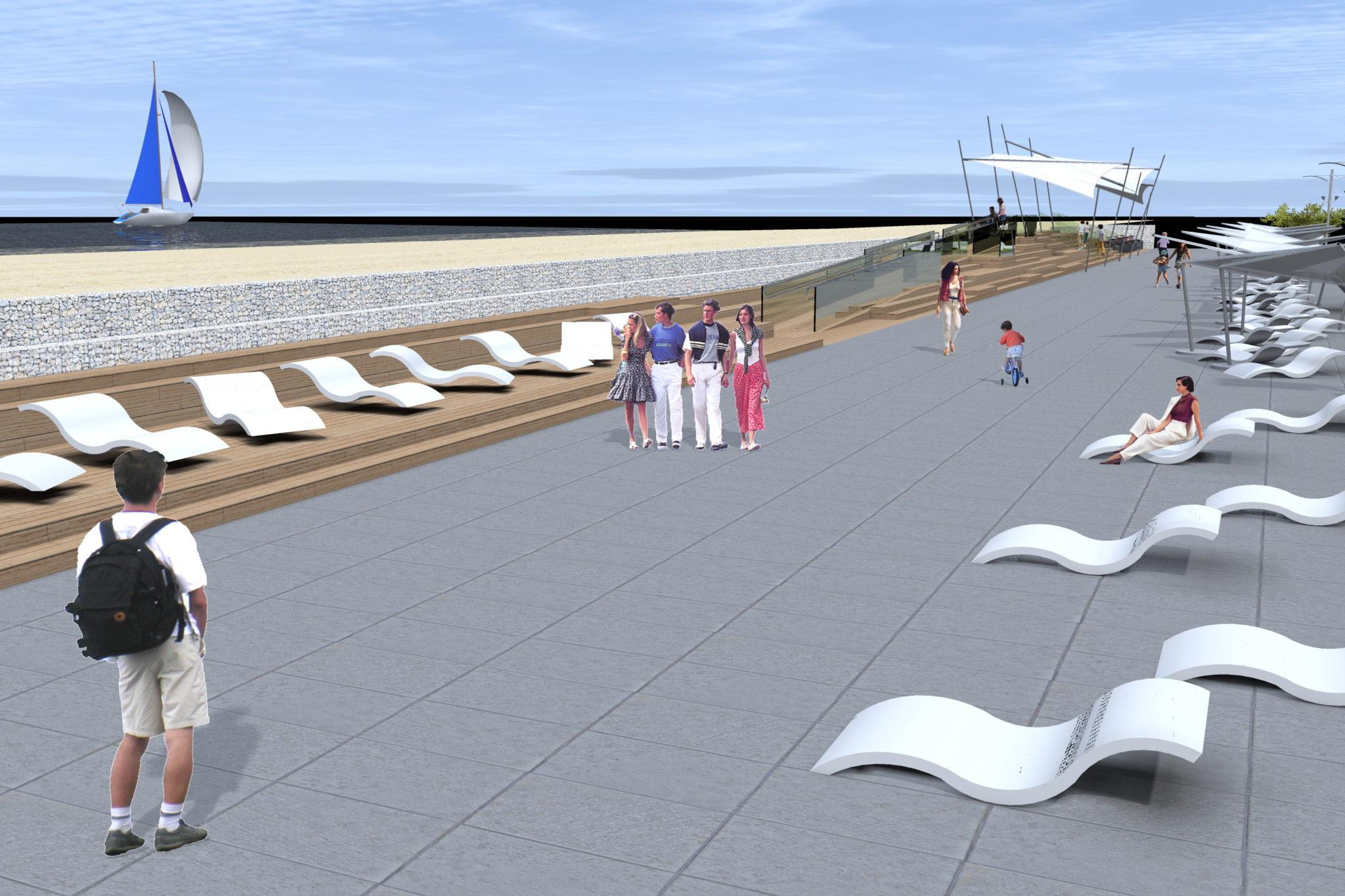 6 - Tak ma wyglądać po przebudowie ostatni odcinek nadmorskiej promenady. Miasto wchodzi w inwestycję, by nie utracić unijnego dofinansowania