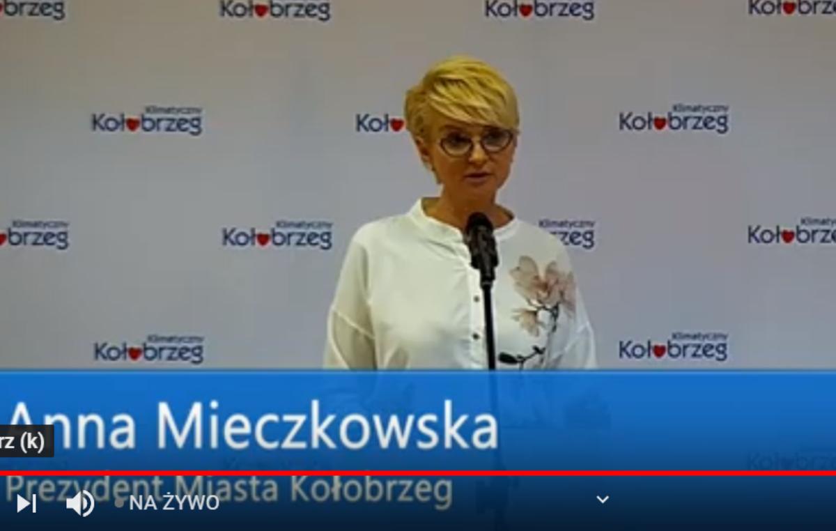 NA ŻYWO: Konferencja prezydent Kołobrzegu (zakończona, wideo)