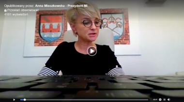 Prezydent odpowiada na pytania mieszkańców (zapis wideo czatu z Anną Mieczkowską)