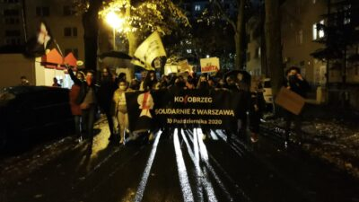 Kołobrzeg solidarnie z Warszawą. Kolejny marsz przeciwników orzeczenia TK ws. aborcji (ZDJĘCIA, WIDEO)
