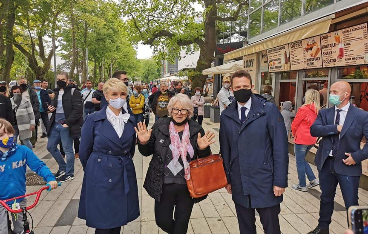 Rafał Trzaskowski odwiedził dziś Kołobrzeg. O sytuacji w kraju: Dominuje chaos, nie ma jasnego planu