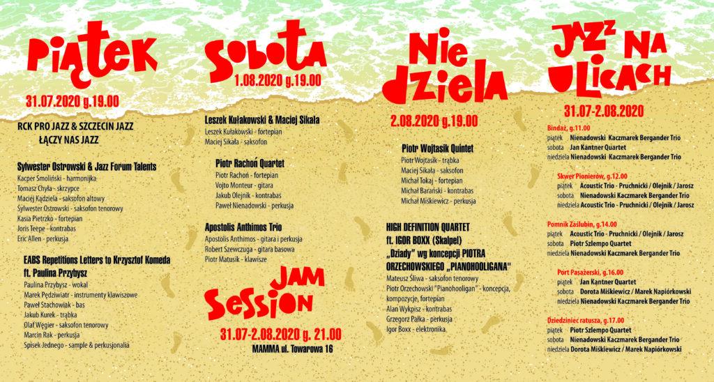 rck 20 pro jazz ulotka 1 1024x548 - 31 lipca-2 sierpnia, Festiwal RCK PRO JAZZ