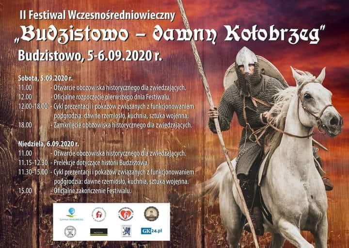 """festiwal - 5-6 września, II Festiwal Wczesnośredniowieczny """"Budzistowo – dawny Kołobrzeg"""", wstęp wolny"""