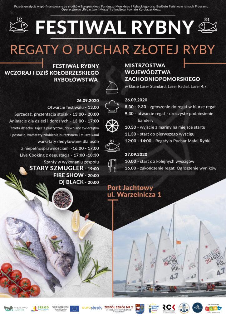 Plakat 1 724x1024 - 26-27 września, port jachtowy, Festiwal Rybny i Regaty o Puchar Złotej Ryby, wstęp wolny