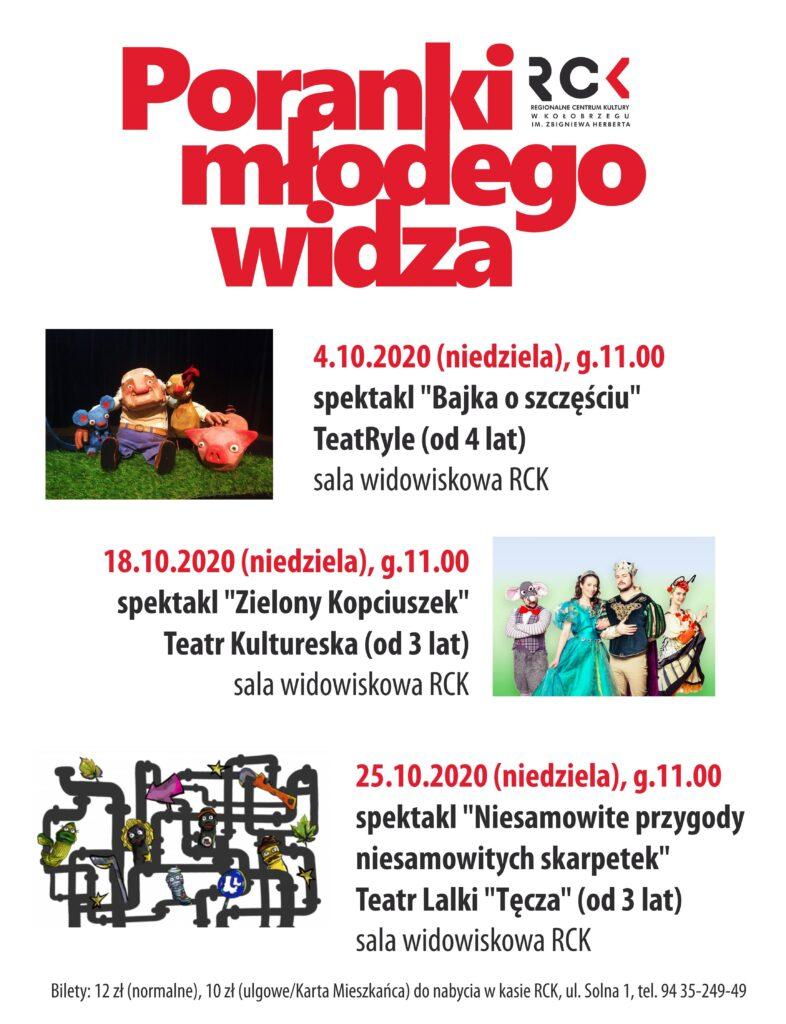 poranki 786x1024 - 4 października, RCK, Poranki Młodego Widza, godz. 11, bilety 12 zł