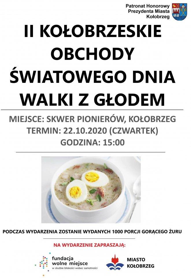 walka z głodem - 22 października, skwer Pionierów, II Kołobrzeskie Dni Walki z Głodem, godz. 15, wstęp wolny