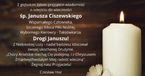 Czesław Hoc: Żegnaj nasz Przyjacielu!