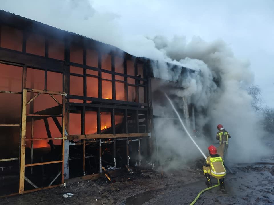 pozar3 1 - Spłonął tartak w Stramnicy (ZDJĘCIA)