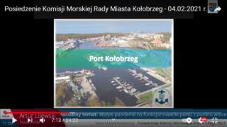 Prezes Lijewski o sytuacji w porcie Kołobrzeg