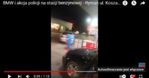 Kobieta staranowała samochodem stację paliw. Policjanci oddali kilka strzałów z broni służbowej (WIDEO)