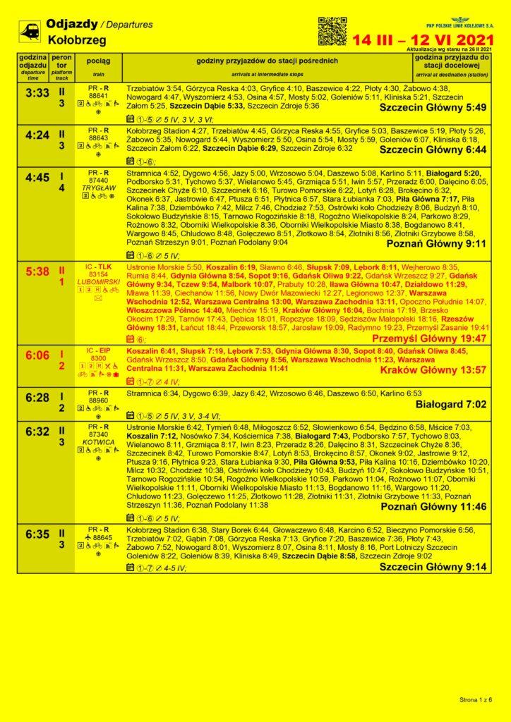0001 1 724x1024 - Wiosenna korekta rozkładu jazdy pociągów (plakaty stacyjne)