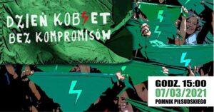 W niedzielę Strajk Kobiet Kołobrzeg przy pomniku Piłsudskiego będzie zbierał podpisy pod petycją