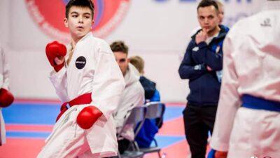 Wiktor Wojarski na pierwszym miejscu w rankingu Polskiej Unii Karate w kategorii kadetów. Ma szanse na udział w Młodzieżowych Mistrzostwach Europy