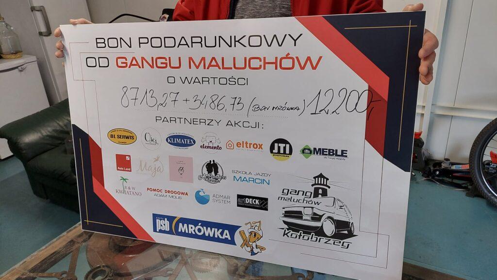 gang2 1024x577 - Zbiórka Gangu Maluchów dla pogorzelców z Drzonowa.     Piękny wynik!