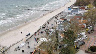 Widok z latarni morskiej w Kołobrzegu