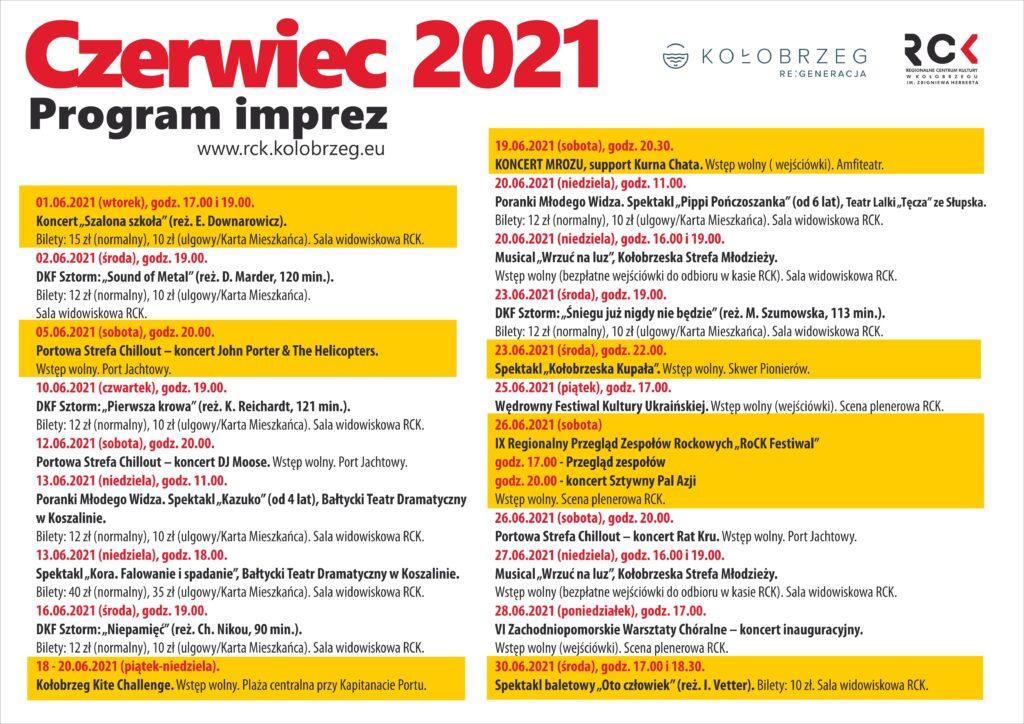 rck 21 czerwiec plakat ostateczny 1024x724 - Koncert Johna Portera, Mrozu i zespołu Sztywny Pal Azji. Co jeszcze czeka nas w czerwcu?