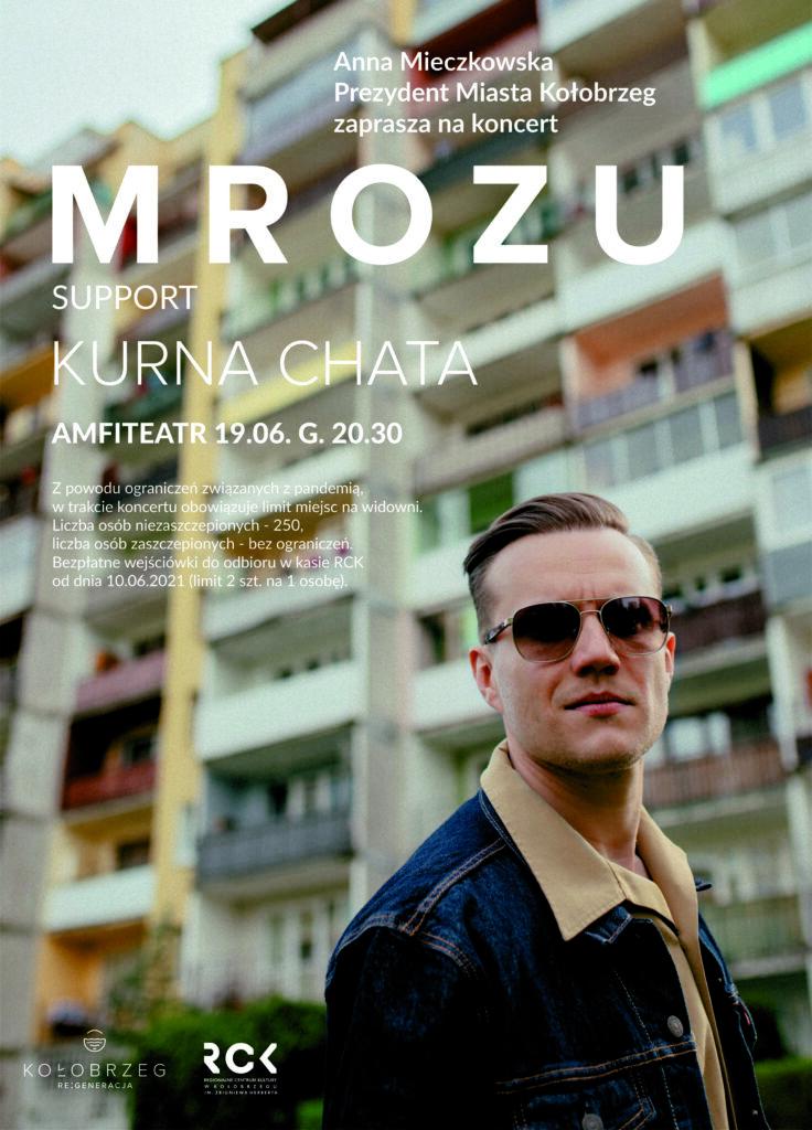 RCK 21 MROZU plakat 1 736x1024 - 19 czerwca, amfiteatr, koncert Mrozu, godz. 20.30, bezpłatne wejściówki