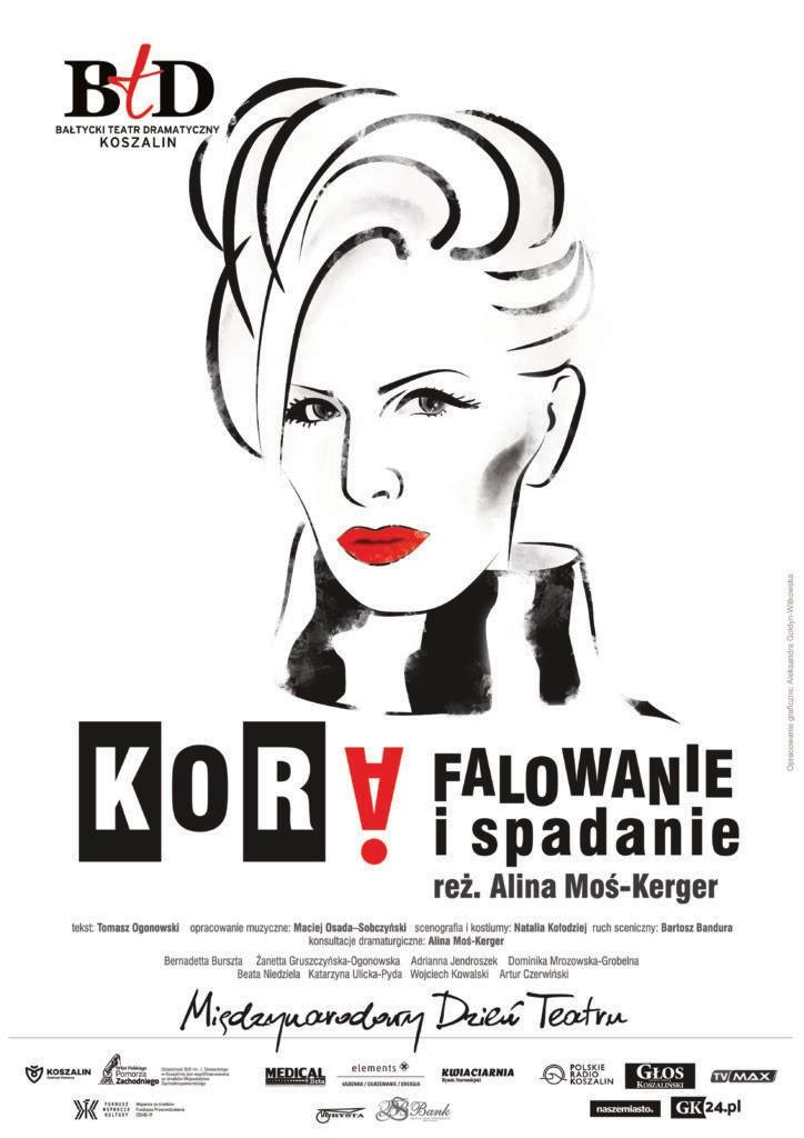 """kora - 13 czerwca, RCK, spektakl """"Kora. Falowanie i spadanie"""", godz. 18, bilety 35 zł/40 zł"""