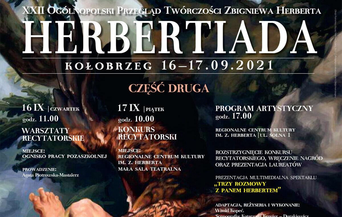 """16-17 września, RCK, """"Herbertiada"""" część II, wstęp wolny"""