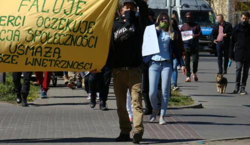 27 (1) (1) (1) (1) - Grupa mieszkańców Kołobrzegu protestowała dziś przeciwko technologii 5G (zdjęcia, wideo)