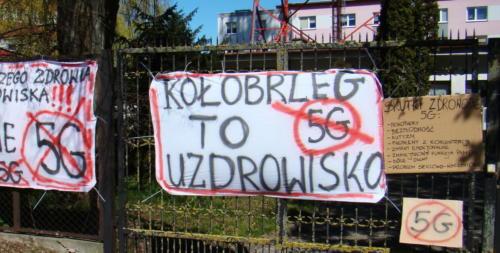 2 (1) (1) - Grupa mieszkańców Kołobrzegu protestowała dziś przeciwko technologii 5G (zdjęcia, wideo)